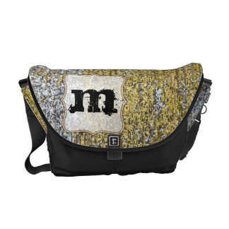 Gold and Silver Grunge Glitter Bag Tote Purse Courier Bag