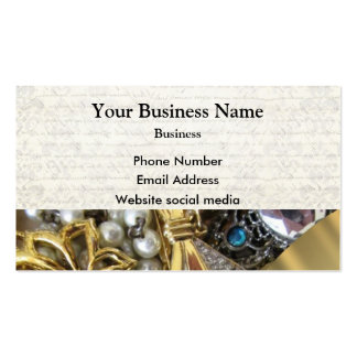 Gold and silver jewelry business card