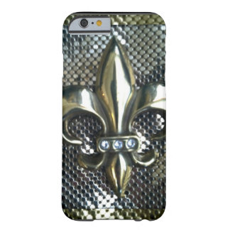GOLD AND SILVER MESH FLEUR-DE-LIS BARELY THERE iPhone 6 CASE