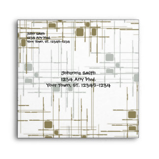 Gold and Silver Modern Art Envelope