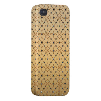 Gold and Silver Rhinestones Photo Print iPhone 4/4S Case