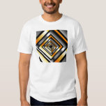 Gold and silver squares forming perspective T-Shirt