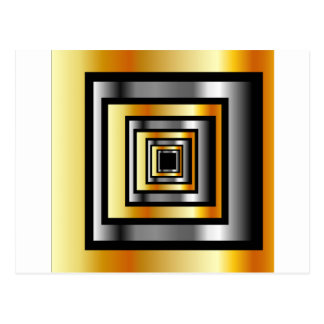 Gold and silver squares postcard
