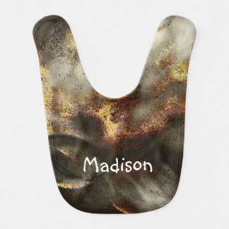Gold and Silver Star Dust Effect Baby Bib