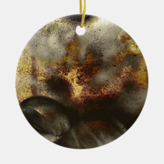 Gold and Silver Star Dust Effect Ceramic Ornament