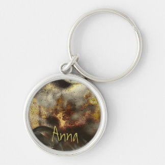 Gold and Silver Star Dust Effect Keychain