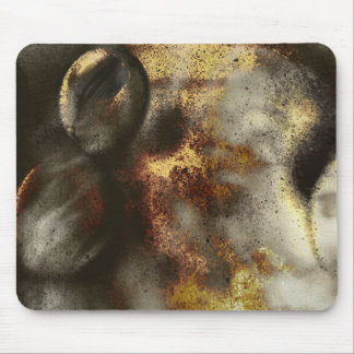 Gold and Silver Star Dust Effect Mouse Pad