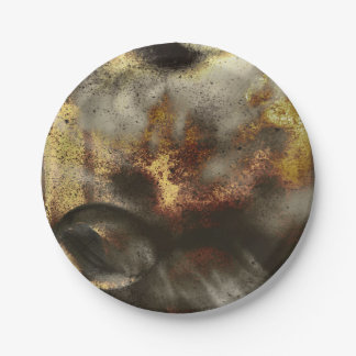 Gold and Silver Star Dust Effect Paper Plate