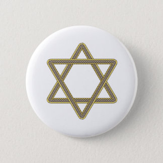 Gold and Silver Star of David for Bar Bat Mitzvah Button