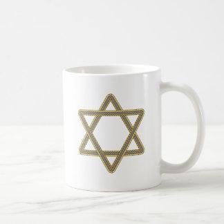 Gold and Silver Star of David for Bar Bat Mitzvah Coffee Mug