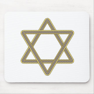 Gold and Silver Star of David for Bar Bat Mitzvah Mouse Pad