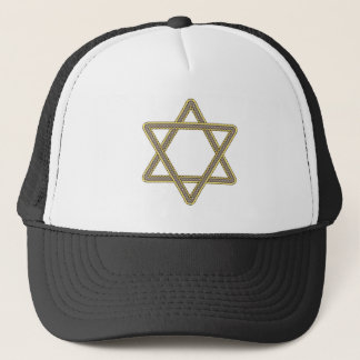 Gold and Silver Star of David for Bar Bat Mitzvah Trucker Hat