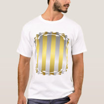 Gold and Silver Stripes T-Shirt