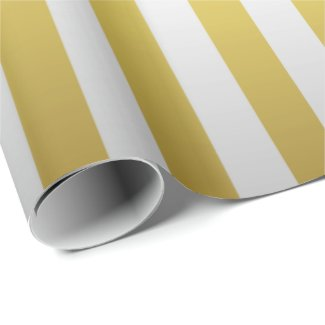 Gold and Silver Stripes Wrapping Paper