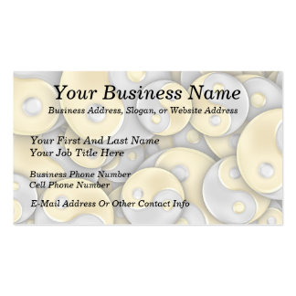 Gold and Silver Yin and Yang Business Card