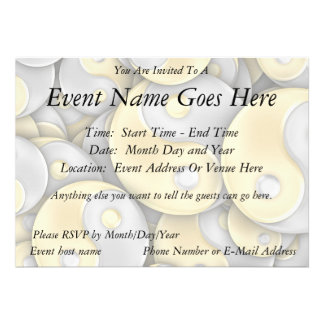 Gold and Silver Yin and Yang Personalized Announcements