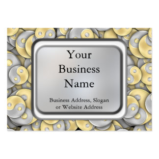 Gold and Silver Yin and Yang Large Business Card