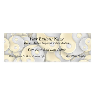 Gold and Silver Yin and Yang Mini Business Card