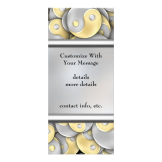 Gold and Silver Yin and Yang Custom Rack Cards