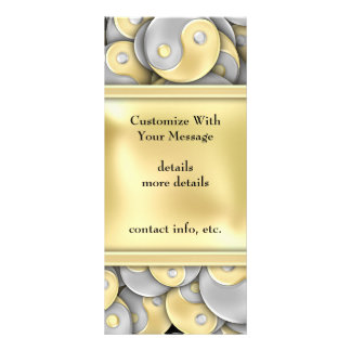 Gold and Silver Yin and Yang Full Color Rack Card