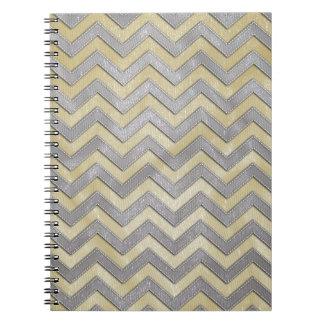 Gold and Silver Zig Zags Note Book