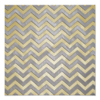 Gold and Silver Zig Zags Photograph