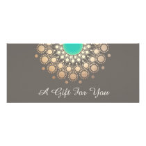 Gold and Turquoise Floral Mandala Gift Certificate