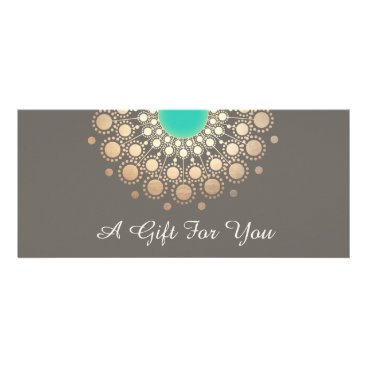 sm_business_cards Gold and Turquoise Floral Mandala Gift Certificate