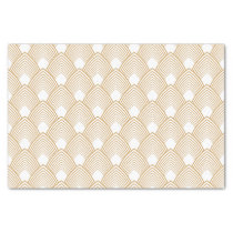 Gold and White Art Deco Pattern Tissue Paper