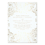 Gold and White Baby's Breath Wedding Card