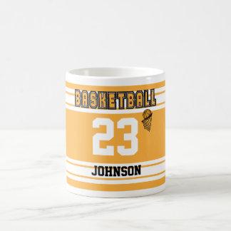 Gold and White Basketball Jersey Coffee Mug