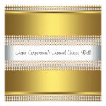 Gold and White Black Tie Corporate Party Personalized Announcement