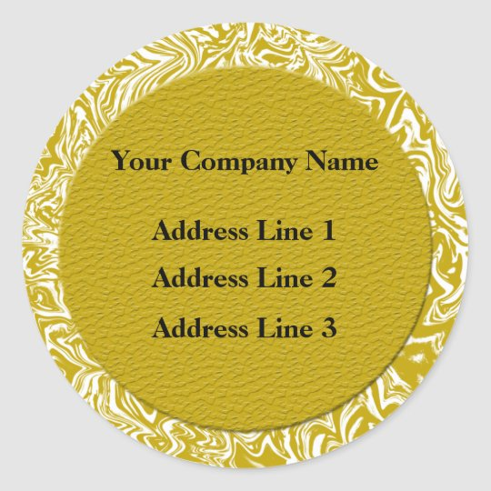 Gold and White Business Address Labels