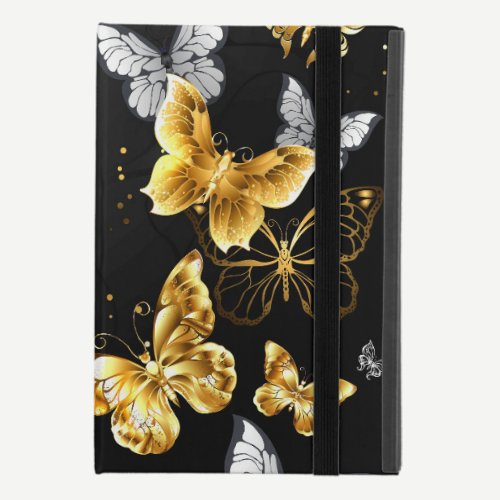 Gold and white butterflies iPad mini 4 case