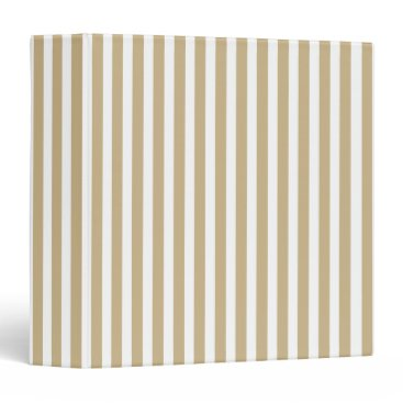 Aqua Gold and White Christmas Candy Cane Stripes Binder