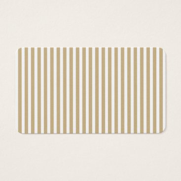 Disney Themed Gold and White Christmas Candy Cane Stripes Business Card