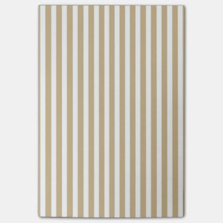 Gold and White Christmas Candy Cane Stripes Post-it® Notes
