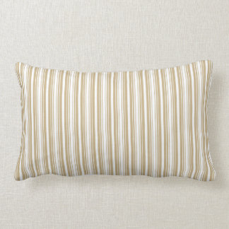 Gold and White Christmas Stripes Pillows