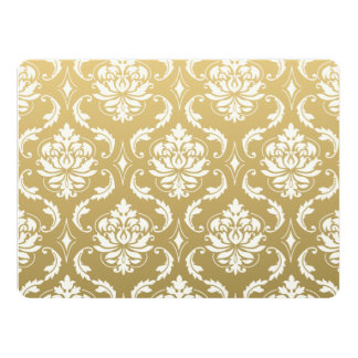 Gold and White Classic Damask Card