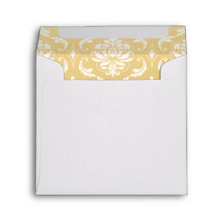Gold and White Classic Damask Envelope