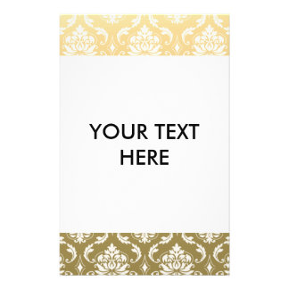 Gold and White Classic Damask Flyer