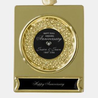 Gold And White Diamonds 50th Anniversary