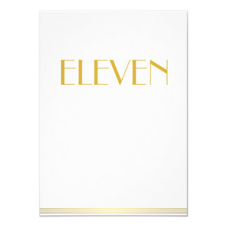 Gold And White Great Gatsby Wedding Table Cards