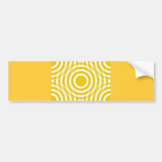 gold_and_white_interlocking_concentric_circles etiqueta de parachoque