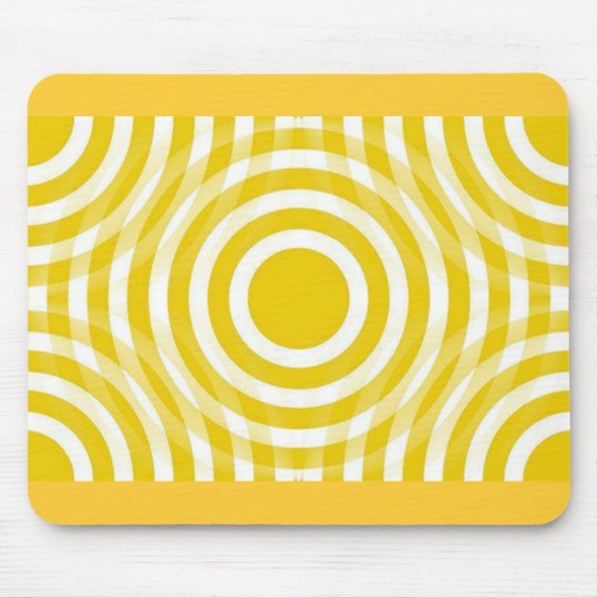 gold_and_white_interlocking_concentric_circles mouse pad