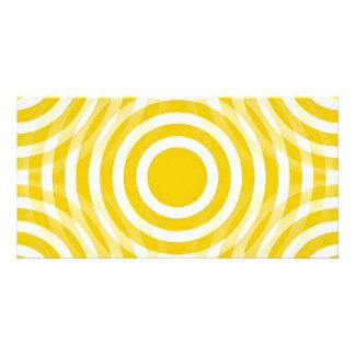 gold_and_white_interlocking_concentric_circles tarjetas personales con fotos