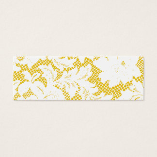 Gold and White Lace Skinny Business Card Template