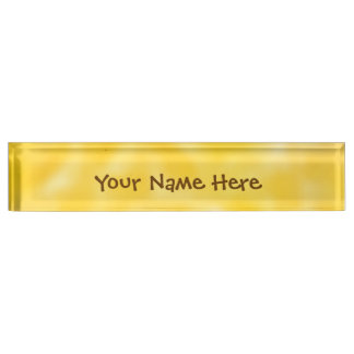 Gold and White Mottled Name Plate
