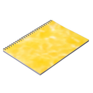Gold and White Mottled Spiral Notebook