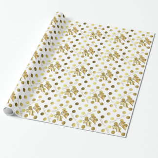 gold and white wrapping paper zazzle. Black Bedroom Furniture Sets. Home Design Ideas